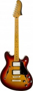Полуакустическая гитара FENDER MODERN PLAYER STARCASTER MN Aged Cherry Burst