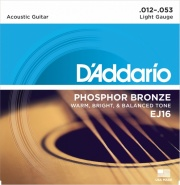 D ADDARIO EJ16 PHOSPHOR BRONZE LIGHT 12-53