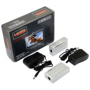 HDMI Extender Adapter Over 1 Single Ethernet Cat5e /6 1080p Extension RJ45 Cable